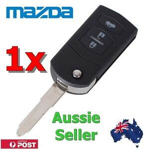 1 x 3 BUTTON Flip Key Remote Case Shell replacement MAZDA 2 3 5 6 RX8 MX5 key