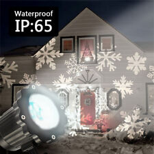 Moving Snowflakes Laser Projector Waterproof LED Light Lamp Outdoor Xmas Decor