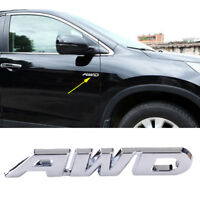 Silver AWD Car SUV Metal Emblem Sticker Badge Decal for 4 Wheel Drive Tailgate