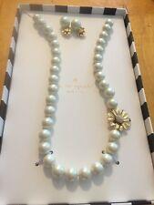 Kate Spade Mom KnowsBest Pearl Necklace/EarringBoxed Set  New $128 KSJ6