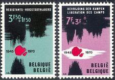 Belgium 1970 WWII/Prisoners of War/Resistance Fighters/Liberation  2v set n43188