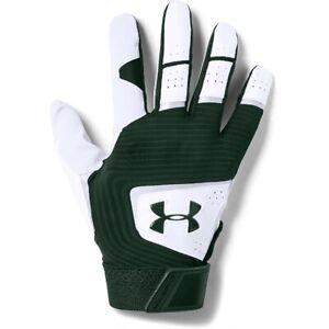 Under Armour Men's Clean Up Batting Gloves Pair FOREST GREEN | WHITE XL