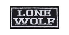Lone wolf patch écusson badge Motard Heavy rocker Bügelbild blouson moto stick