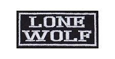 Lone Wolf Patch Aufnäher Badge Biker Heavy Rocker Bügelbild Kutte Motorrad Stick