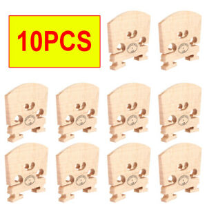 10 Pcs Violin Bridge 4/4 Size Maple Wood Full Size Violin Parts US EAA