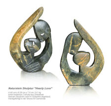 "Stone Art Sculpture "" Intimate Love "" Handmade in Zimbabwe of Serpentine"