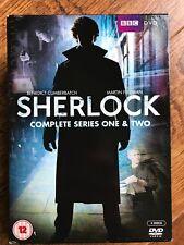 Benedict Cumberbatch SHERLOCK ~ SEASON 1 + 2 BBC Holmes Detective Series UK DVD