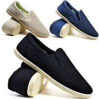 MENS CANVAS SHOES SUMMER SLIP ON CASUAL BOAT DECK YACHT PUMPS PLIMSOLLS TRAINERS