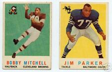 Pair of 1959 Topps Football Rookie Cards