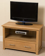 Oslo 100% Solid Oak Wood and Glass Tv Hi-Fi Stand Cabinet Unit Living Room
