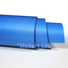 Pellicola adesiva carbonio BLU 3D cm 100x150 car wrapping auto moto carbon blue
