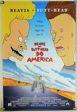 BEAVIS AND BUTT-HEAD DO AMERICA DS ROLLED ORIG 1SH MOVIE POSTER MIKE JUDGE(1996)