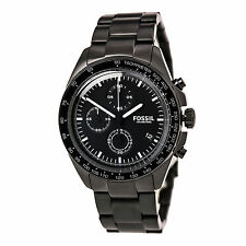 Fossil CH3028 Gent's Chrono Black Dial Black Steel Bracelet Watch