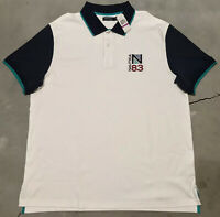 Nautica Men's Polo Deck Shirt Size 2XL White NWT! New!  N83 Color Block