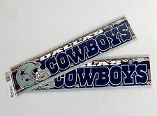 Set of 2 Dallas Cowboys Vintage Bumper Stickers ~ NFL Licensed, WinCraft Sports