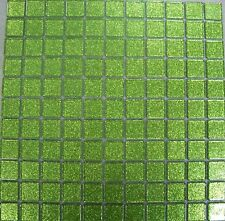 40 x SHEETS OF GLASS MOSAIC TILES GLITTER LIME FINISH