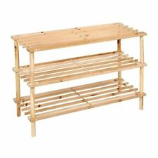 New 3 Layers Wooden Shoe Stand Organiser Storage Rack Shelf