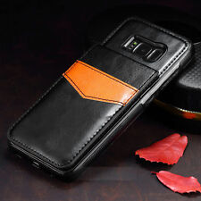 Leather Slim Wallet Credit Card Holder Stand Cover Case For Samsung S8 & S8 Plus