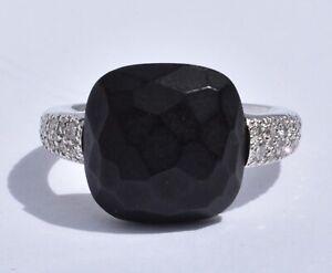 Pomellato Capri Onyx Diamond Ring 18k