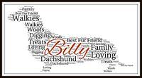 Dachshund Personalised Word Art Sausage Dog Christmas Gift Keepsake Pet Print