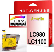 Tinta compatible NON-OEM para Brother LC1100 LC980 DCP-585CW DCP-165C Amarillo