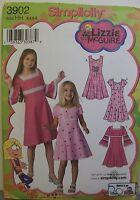 Simplicity Pattern 3902 Sz 3-6 Girls Dress 3 Sleeve Variations Lizzie McGuire