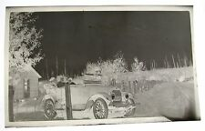 Antique PHOTO NEGATIVE AUTO CAR CONVERTIBLE BELLINGHAM WASHINGTON MEN WOMEN USA