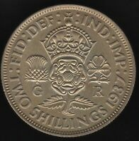 1937 George VI Silver Two Shillings | British Coins | Pennies2Pounds