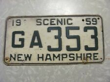 1959  NEW HAMPSHIRE LICENSE PLATE  FREE SHIPPING