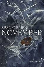 November by Sean O'Brien