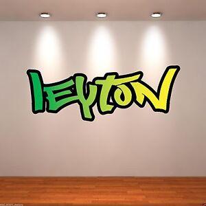 Small Personalised Graffiti Name Colour Wall Art Sticker Transfer Bedroom WSD172