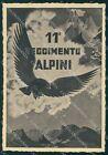 Militari 11º Regg Alpini Divisione Pusteria Angoletta ABRASA FG cartolina XF0934