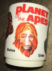 VINTAGE! 1967 Planet of the Apes Action Figure Child Plastic Cup Mug RARE!