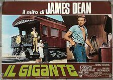 Affiche italienne GEANT Giant JAMES DEAN George Stevens TRAIN Locomotive 1956