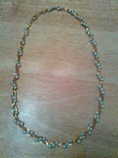 """Goldtone and faux pearl necklace, 18"""""""