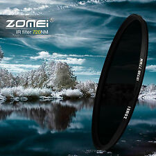 ZOMEI 58MM 720NM Pro  Infrared Infra-red IR filter Optical glass For Hoya Canon