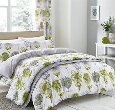 Catherine Lansfield Banbury Floral Green Duvet Set Available in 3 Sizes King