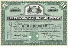 $50 Pennsylvania Railroad Company~100 Shares Certificate 1955 ~Scripophily