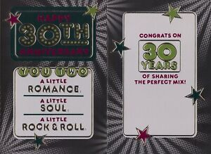 Hallmark 30th Anniversary Card From Friend/Family--A Little Soul + Rock & Roll