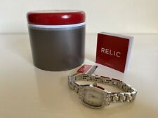 NEW! RELIC LILLIAN CRYSTALS GLITZ SILVER-TONE WATCH ZR34297 $60 SALE