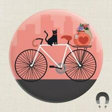"""New listing Magnet Black Cat Rides Bike Strong Big 2.25"""" Freyas Feral Cat Rescue"""