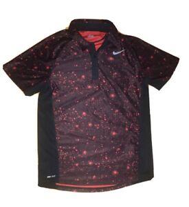 Nike Dri-Fit Short Sleeve Polo Shirt Cosmic Black Men's S 598129-010 Pre-Own $65