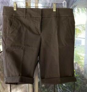 Ann Taylor Loft Low-rise Bermuda Shorts Cuffed Size 10 Four Pocket Styling