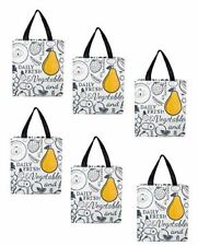 Earthwise Reusable Grocery Shopping Bags Extremely Durable (6 Pack)