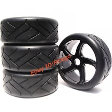 New 4pcs RC 1/8 On road Racing Tires Wheels for Redcat HPI Racing Car Upgrade