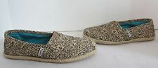 TOMS~WOMENS FLORAL STENCIL BURLAP CLASSIC SLIP ON~6.5~WORN ONCE