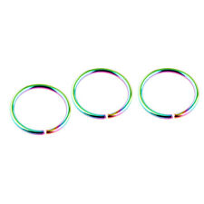 3pc Fake Nose Ring Septum Ring Hoop Cartilage Tragus Helix Small Piercing Daith