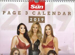 The Sun Page 3 Calendar 2019