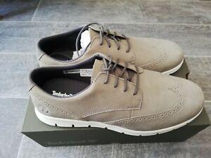 Timberland BNIB Mens Graydon Brogue Oxford Medium Grey Nubuck Size UK 9