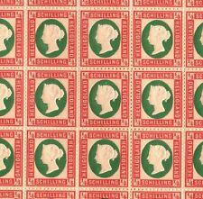 More details for heligoland qv stamps sg.5a ¼sch colour error (1873) mint sheet cat £9,500+ ep194